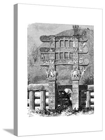 The East Gate of the Sanchi Tope, India, 1895--Stretched Canvas Print