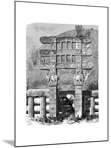 The East Gate of the Sanchi Tope, India, 1895--Mounted Giclee Print