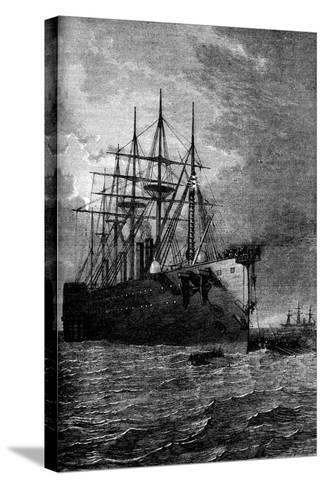 Picking Up the Atlantic Cable, 1866--Stretched Canvas Print