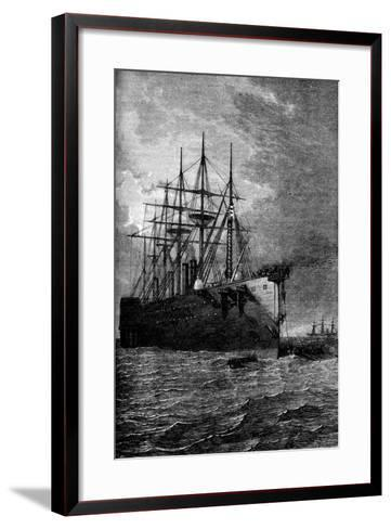 Picking Up the Atlantic Cable, 1866--Framed Art Print
