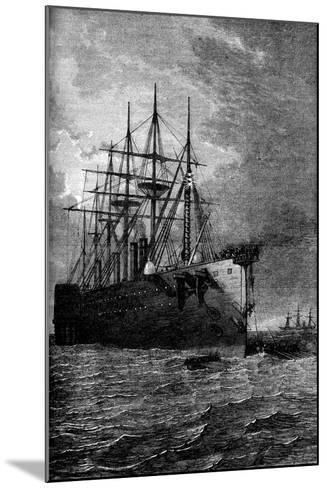 Picking Up the Atlantic Cable, 1866--Mounted Giclee Print