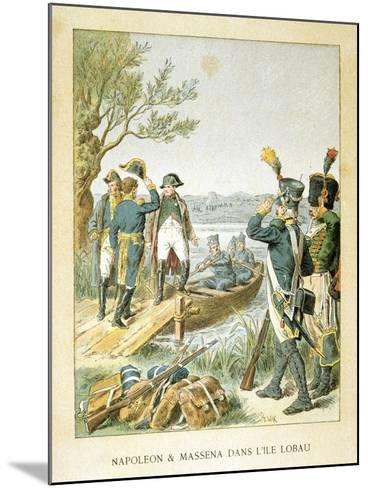 Napoleon and Massena on the Island of Lobau, May 1809--Mounted Giclee Print