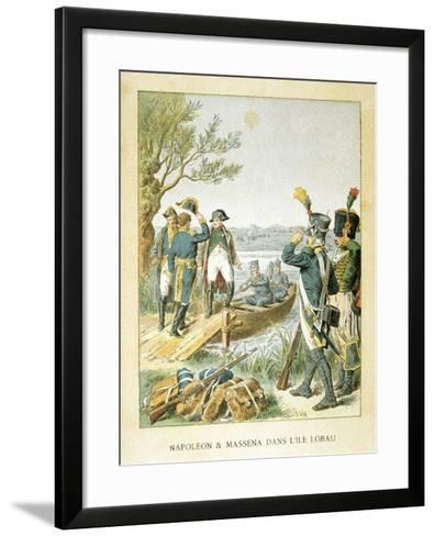 Napoleon and Massena on the Island of Lobau, May 1809--Framed Art Print