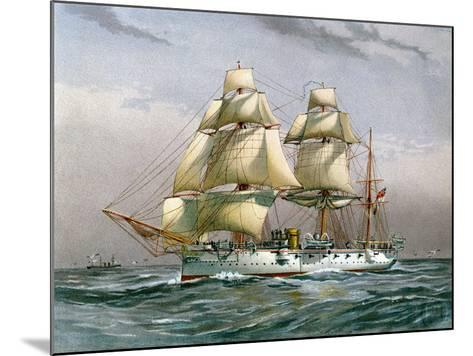 HMS Calliope, Royal Navy 3rd Class Cruiser, C1890-C1893--Mounted Giclee Print