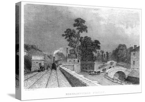 Berkhamsted Station, Hertfordshire, on the London and Birmingham Railway, C1860--Stretched Canvas Print