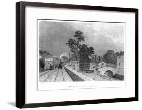 Berkhamsted Station, Hertfordshire, on the London and Birmingham Railway, C1860--Framed Art Print