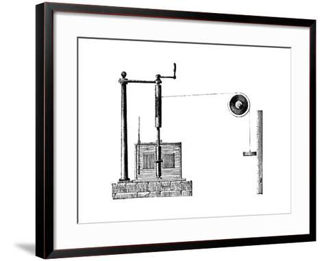 Joule's Apparatus for Determining the Mechanical Equivalent of Heat, 1872--Framed Art Print
