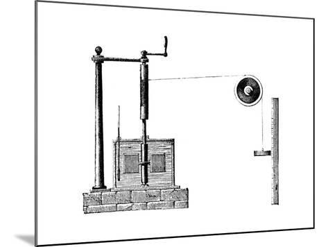 Joule's Apparatus for Determining the Mechanical Equivalent of Heat, 1872--Mounted Giclee Print