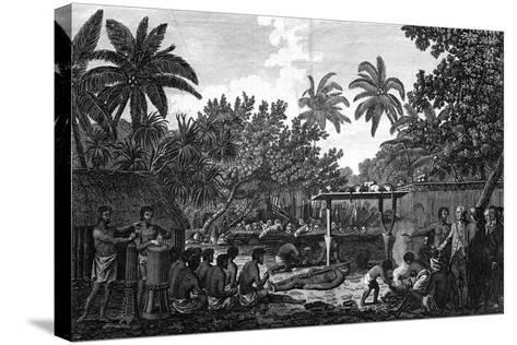 A Human Sacrifice in a Morai, in Otaheite; in the Presence of Captain Cook, C1773-John Webber-Stretched Canvas Print