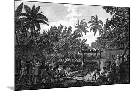 A Human Sacrifice in a Morai, in Otaheite; in the Presence of Captain Cook, C1773-John Webber-Mounted Giclee Print
