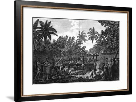 A Human Sacrifice in a Morai, in Otaheite; in the Presence of Captain Cook, C1773-John Webber-Framed Art Print