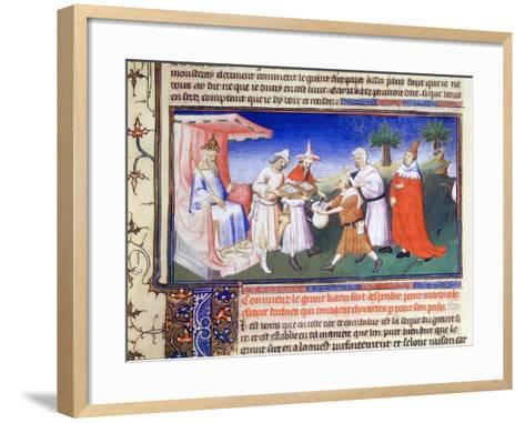Kublai Khan Paying for Purchases, C1280s--Framed Art Print