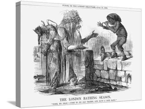 The London Bathing Season, 1859--Stretched Canvas Print