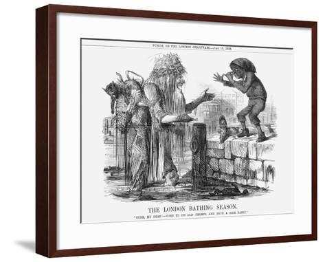 The London Bathing Season, 1859--Framed Art Print