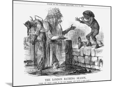 The London Bathing Season, 1859--Mounted Giclee Print