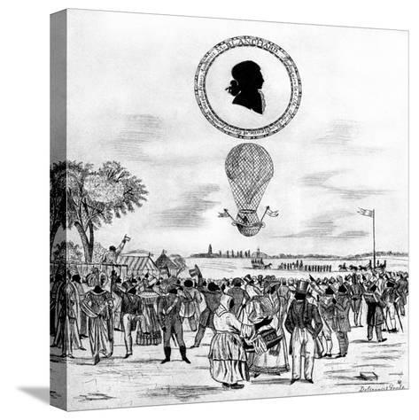 Blanchard's Balloon, 1790--Stretched Canvas Print