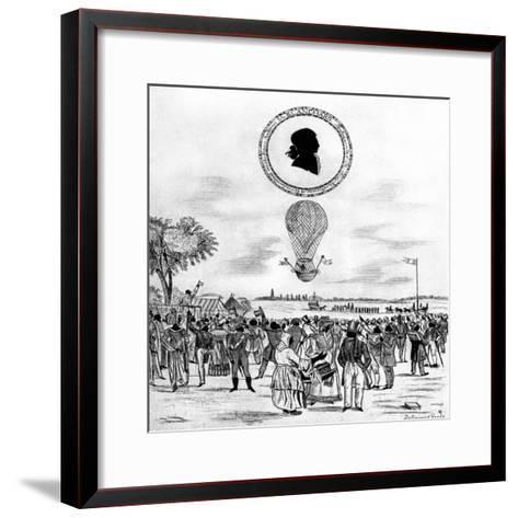 Blanchard's Balloon, 1790--Framed Art Print