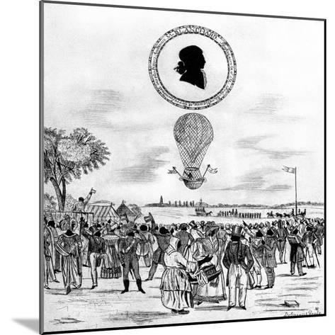 Blanchard's Balloon, 1790--Mounted Giclee Print
