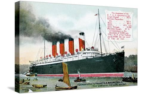 Ocean Liner RMS Mauretania, 20th Century--Stretched Canvas Print