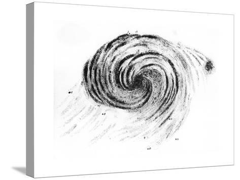 Observation of a Spiral Galaxy in Canes Venatici Drawn by Lord Rosse, 1850--Stretched Canvas Print