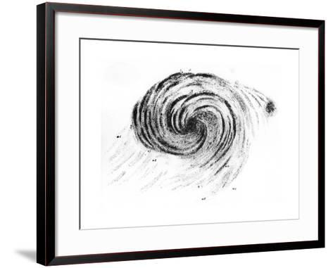 Observation of a Spiral Galaxy in Canes Venatici Drawn by Lord Rosse, 1850--Framed Art Print