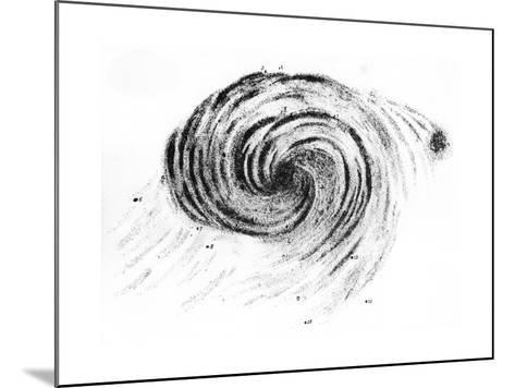 Observation of a Spiral Galaxy in Canes Venatici Drawn by Lord Rosse, 1850--Mounted Giclee Print