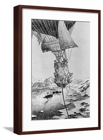 Departure of the Andree Balloon Expedition to the North Pole, Spitzbergen, 1897--Framed Art Print