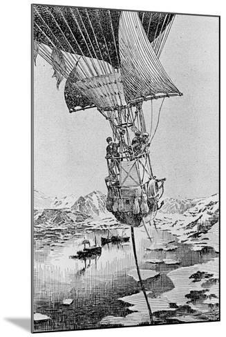 Departure of the Andree Balloon Expedition to the North Pole, Spitzbergen, 1897--Mounted Giclee Print