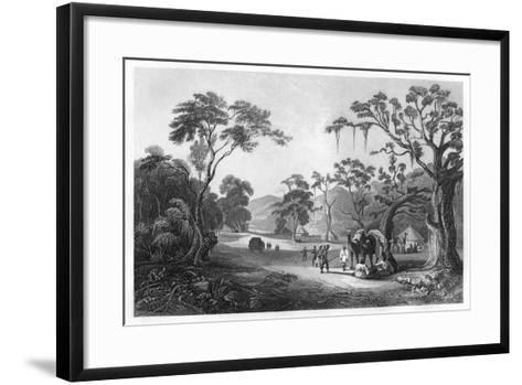 Troops Encamped at the Entrance to the Keree Pass, North of Meerut, India, C1860--Framed Art Print