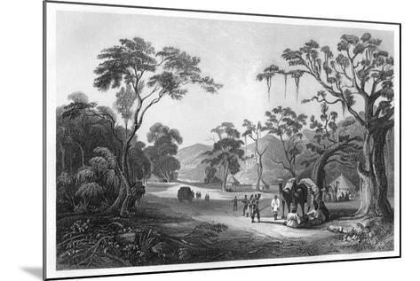 Troops Encamped at the Entrance to the Keree Pass, North of Meerut, India, C1860--Mounted Giclee Print