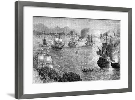 Captain Morgan's Defeat of the Spanish Fleet, 1660S--Framed Art Print