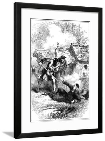 Death of Sebastien Rale, French Jesuit Missionary in America, 1724--Framed Art Print