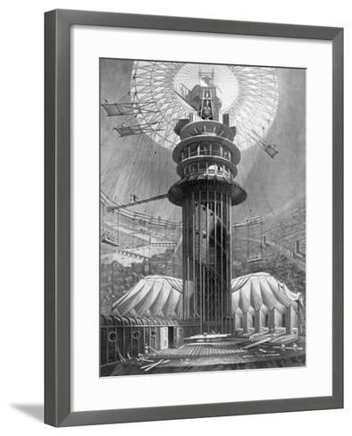 The Geometrical Ascent to the Galleries in the Colosseum, Regent's Park, London, 1823--Framed Art Print