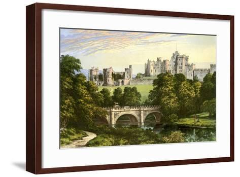 Alnwick Castle, Northumberland, Home of the Duke of Northumberland, C1880-Benjamin Fawcett-Framed Art Print
