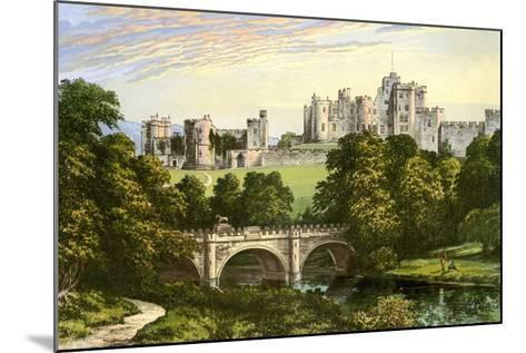 Alnwick Castle, Northumberland, Home of the Duke of Northumberland, C1880-Benjamin Fawcett-Mounted Giclee Print