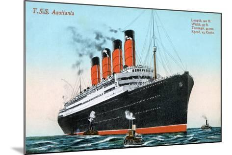 Ocean Liner RMS Aquitania, 20th Century--Mounted Giclee Print