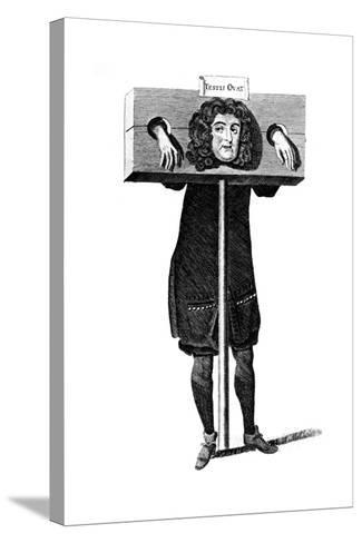 Testis Ovat, Titus Oates in the Pillory, 17th Century--Stretched Canvas Print