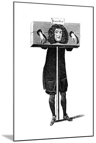 Testis Ovat, Titus Oates in the Pillory, 17th Century--Mounted Giclee Print