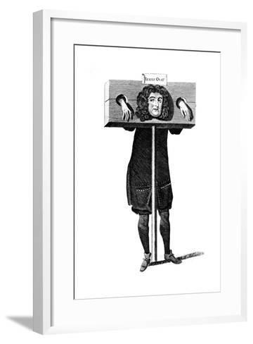Testis Ovat, Titus Oates in the Pillory, 17th Century--Framed Art Print