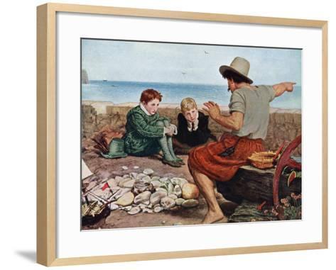 The Boyhood of Raleigh, 1908-1909-John Everett Millais-Framed Art Print