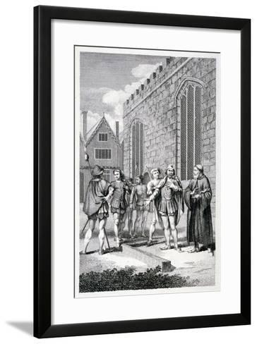 Scene Outside the Tower of London, Depicting the Beheading of Lord Hastings, 1483--Framed Art Print