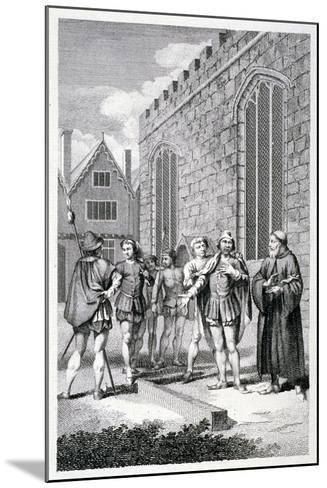 Scene Outside the Tower of London, Depicting the Beheading of Lord Hastings, 1483--Mounted Giclee Print