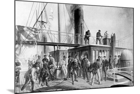 The 'Great Eastern' Recovering the Lost Atlantic Cable, 1866-Robert Dudley-Mounted Giclee Print