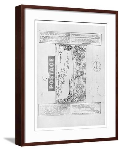 Mulready's Wrapper Envelope, 1840--Framed Art Print
