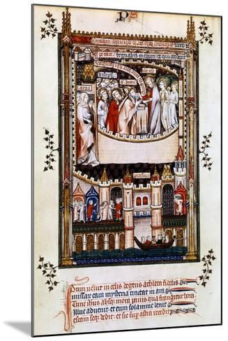 Christ Gives Communion to St Denis, 1317--Mounted Giclee Print
