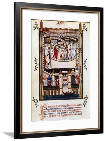 Christ Gives Communion to St Denis, 1317--Framed Art Print