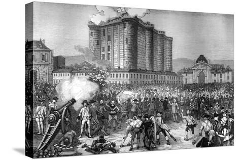 Storming of the Bastille, Paris, 14th July 1789 (1882-188)--Stretched Canvas Print