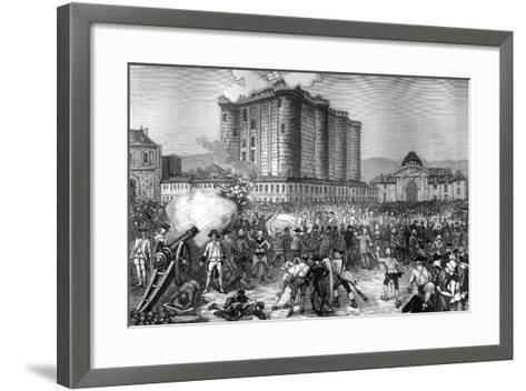 Storming of the Bastille, Paris, 14th July 1789 (1882-188)--Framed Art Print
