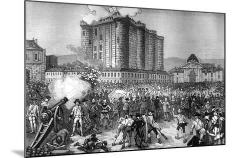 Storming of the Bastille, Paris, 14th July 1789 (1882-188)--Mounted Giclee Print