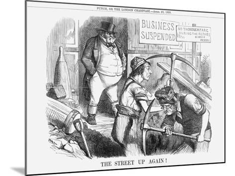 The Street Up Again!, 1859--Mounted Giclee Print
